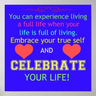Fira ditt liv poster