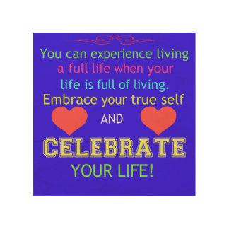 Fira ditt liv trätavla