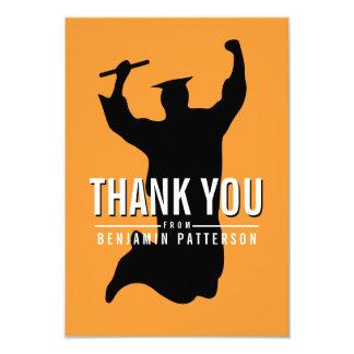 Fira kortet för studentpersonligtack 8,9 x 12,7 cm inbjudningskort