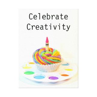 Fira kreativitetmuffinen canvastryck