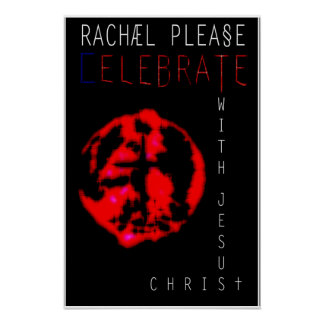 Fira med den Jesus Kristus Poster