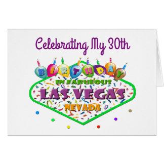 Fira mitt 30th Las Vegas födelsedagkort Hälsningskort