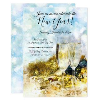 Fira nyårsaftonpartyinbjudan 12,7 x 17,8 cm inbjudningskort