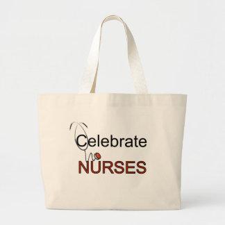 Fira sjuksköterskaT-tröja och gåvor Jumbo Tygkasse