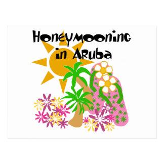 Fira smekmånad i Aruba Vykort
