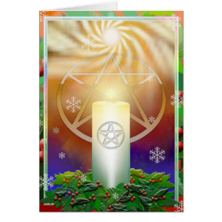 Fira värmen av den Yule solen Hälsningskort