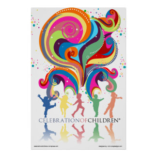 Firande av affischen för barn 24x36 poster