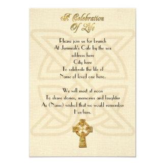 Firande av den Celtic fnurran & kor för 12,7 X 17,8 Cm Inbjudningskort