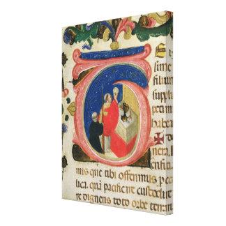 Firande av eucharisten canvastryck