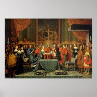Firande av giftermål av Louis XIV Poster