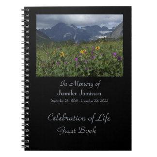 Firande av glaciären för vildblommar för anteckningsbok