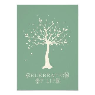 Firande av liv - anpassningsbar - elegantt 12,7 x 17,8 cm inbjudningskort
