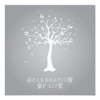 Firande av liv - anpassningsbar - elegantt fyrkantigt 13,3 cm inbjudningskort