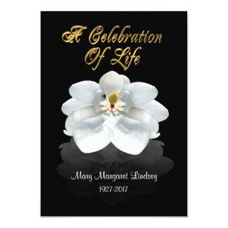 Firande av livinbjudanmagnoliaen 12,7 x 17,8 cm inbjudningskort