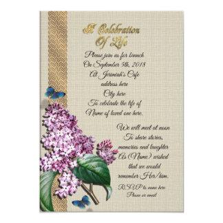 Firande av livlilor 12,7 x 17,8 cm inbjudningskort