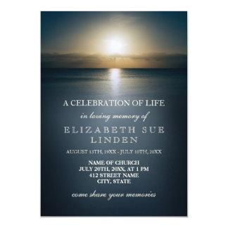 Firande av solen för liv | över hav 12,7 x 17,8 cm inbjudningskort