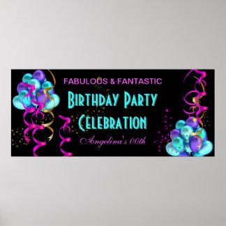 Firande för födelsedagsfest för KRICKASHOCK ROSAba Poster