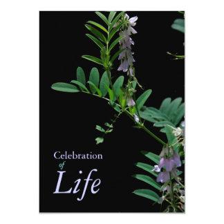 Firande för indigoblått 2 av 11,4 x 15,9 cm inbjudningskort