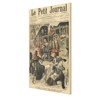 Firande som ges av Villen av Paris Canvastryck