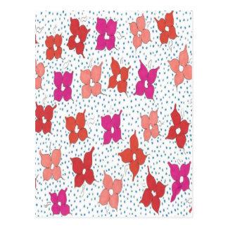 Firandeblommor och polka dots vykort