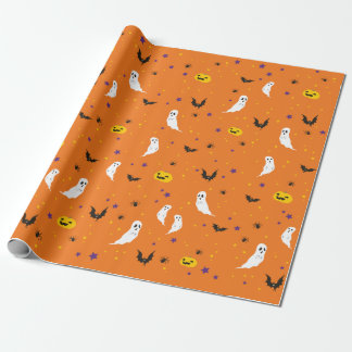 Firandegata - Halloween (orangen) Presentpapper
