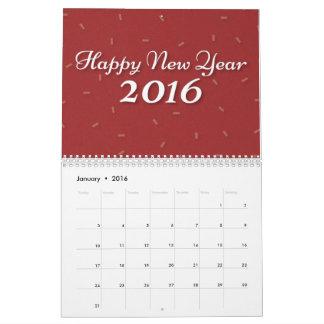 firandekalender för nytt år 2016 kalender