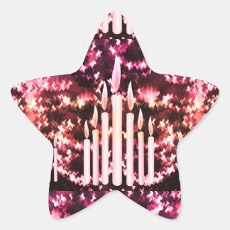 Firanden: Stearinljus utrymme för gåvor n för Stjärnformat Klistermärke