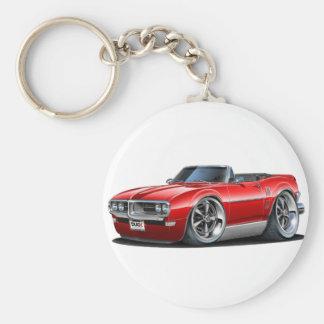 Firebird röd cabriolet 1968 rund nyckelring