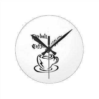 Firebolt kaffe tar tid på rund klocka