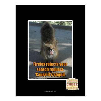 Firefox utskottsvaror vykort