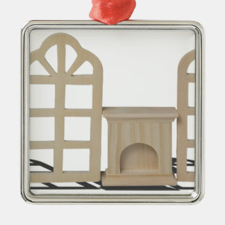 FireplaceArchedWindows101115.png Silverfärgad Fyrkantigt Julgransprydnad