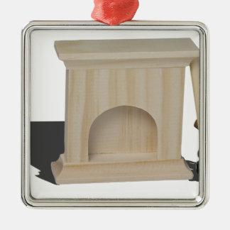 FireplaceHatchetLogs101115.png Silverfärgad Fyrkantigt Julgransprydnad