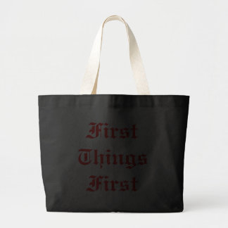 FirstThings först Tote Bags