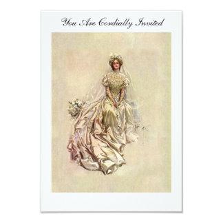 Fishers brud 1902 för ~ för amerikanflicka härlig 8,9 x 12,7 cm inbjudningskort