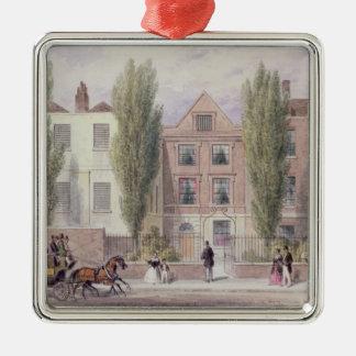 Fishers hus, lägre gata, Islington, 1838 Julgransprydnad Metall