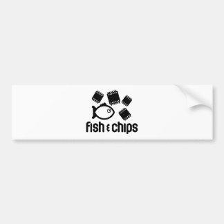 Fisk & chiper bildekal
