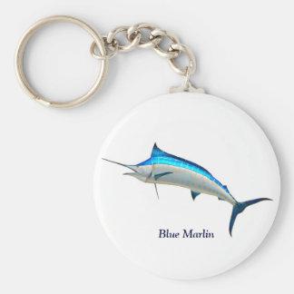 Fisk för blåttMarlinlek Rund Nyckelring