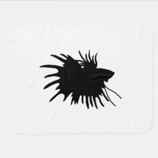 Fisk för stridighet för Betta Silhouettekärlek Bebisfilt