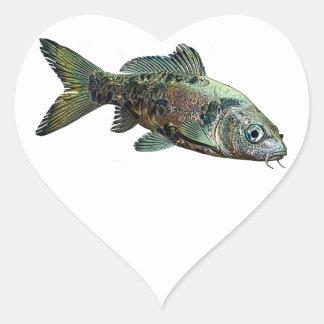 Fisk Hjärtformat Klistermärke