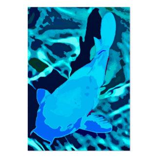 Fisk i akvariet, deppighet visitkort mallar
