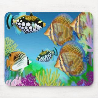 Fisk Mousepad för Indo Stillahavs- korallrev Musmatta