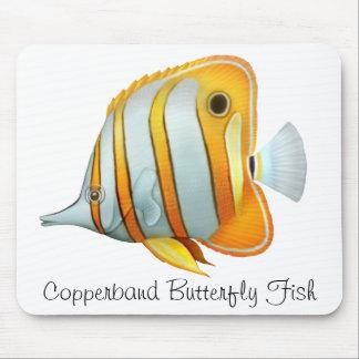 Fisk Mousepad för korallrevCopperband fjäril Musmatta