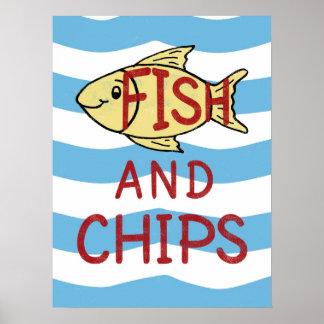 Fisk och chiper poster