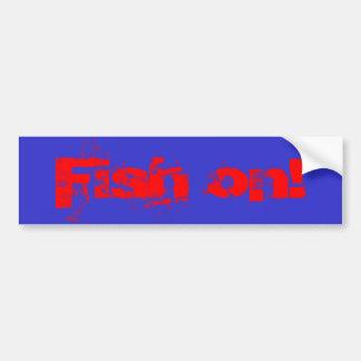 Fisk på! bildekal