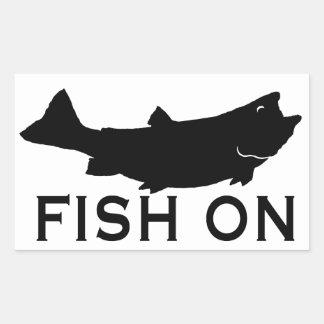 Fisk på rektangulärt klistermärke