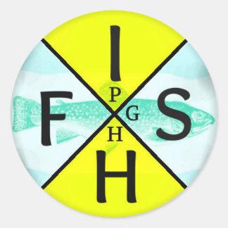Fisk PGH Runt Klistermärke