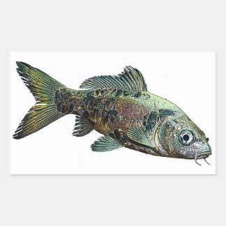 Fisk Rektangulärt Klistermärke