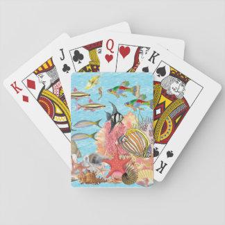 Fisk som leker kort spelkort