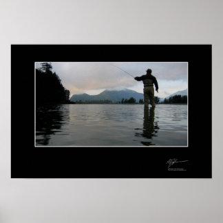 Fiska för coho in BC Poster