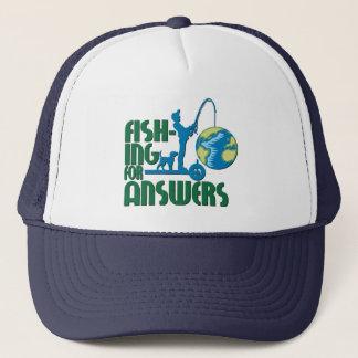 Fiska för svarshatt truckerkeps